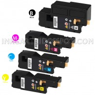 Xerox Compatible Phaser 6010, Workcentre 6015 Set of 4 Toner Cartridges: 1(Black/Cyan/Magenta/Yellow)