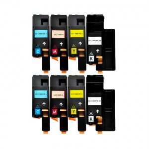8 Pack Dell 1660w Series High Yield Toner Cartridge - 2 Black, 2 Cyan, 2 Yellow, 2 Magenta - Compatible