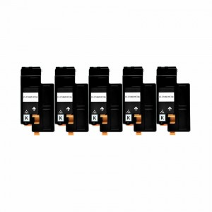 5 Pack - Compatible Dell 332-0399 High Yield Black Toner Cartridge for Color Laser 1660w Printers