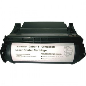 Compatible Black Laser Toner Cartridge for Lexmark 12A5845 - 25,000 Page Yield