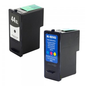 Compatible Lexmark 44 18Y0144 (#44XL) and Lexmark 43 18Y0143 (#43XL) Set of 2 Ink Cartridges: Includes 1 Black and 1 Color Cartridges