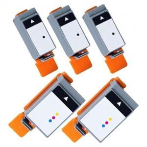 5 Pack: Canon BCI-15BK BCI-16CLR Compatible Ink Cartridges (3BK,2CLR)