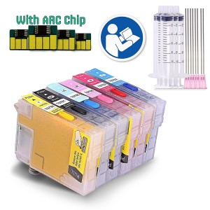 Sublimation Refillable Ink Cartridges Full Set For 79 T0791/2/3/4/5/6, Epson Artisan 1430, Stylus Photo 1400 Printers (for Sublimation Ink, Heat Transfer Printing)