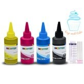 100 ml / 3.5 oz BK/C/M/Y Edible Ink Refill Bottle Combo for All Canon Printer