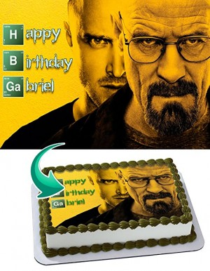 Breaking Bad Edible Cake Image Personalized Icing Sugar Paper A4 Sheet Edible Frosting Photo Cake 1/4 ~ Best Quality Edible Image for cake