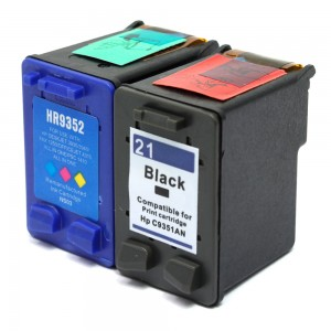 Compatible HP C9531AN HP 21 and C9352AN HP 22 Set of 2 Ink Cartridges