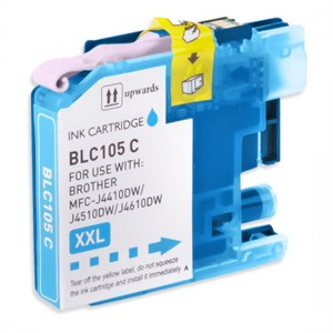 Brother Compatible LC105C Super High Yield Cyan Ink Cartridge