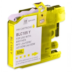 Brother Compatible LC105Y Super High Yield Yellow Ink Cartridge
