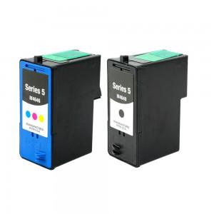 2-PK: DELL M4640 & M4646 Compatible (Series 5) - 1 Black & 1 Color High Capacity Ink Cartridges