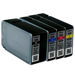 MAXIFY PGI-1200 Genuine Ink Cartridge Full Set Multi-pack (Black, Cyan, Magenta, Yellow) Canon MAXIFY MB2020 MB2030 MB2320 MB2050 MB2350 MB2120 MB2720