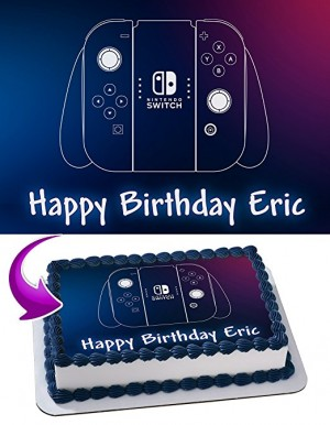 Nintendo Switch Edible Cake Image Personalized Icing Sugar Paper A4 Sheet Edible Frosting Photo Cake 1/4 ~ Best Quality Edible Image for cake