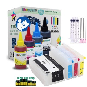 4 Refillable Cartridges for HP 952 952XL with 4x100ml Pigment Ink