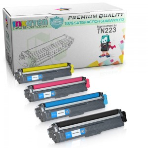 Compatible Toner Cartridge Replacement for Brother TN223 TN227 High Yield (1 Black 1 Cyan 1 Magenta 1 Yellow) 4 Pack