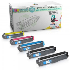 Compatible Toner Cartridge Replacement for Brother TN223 TN227 High Yield (2 Black 1 Cyan 1 Magenta 1 Yellow) 5 Pack