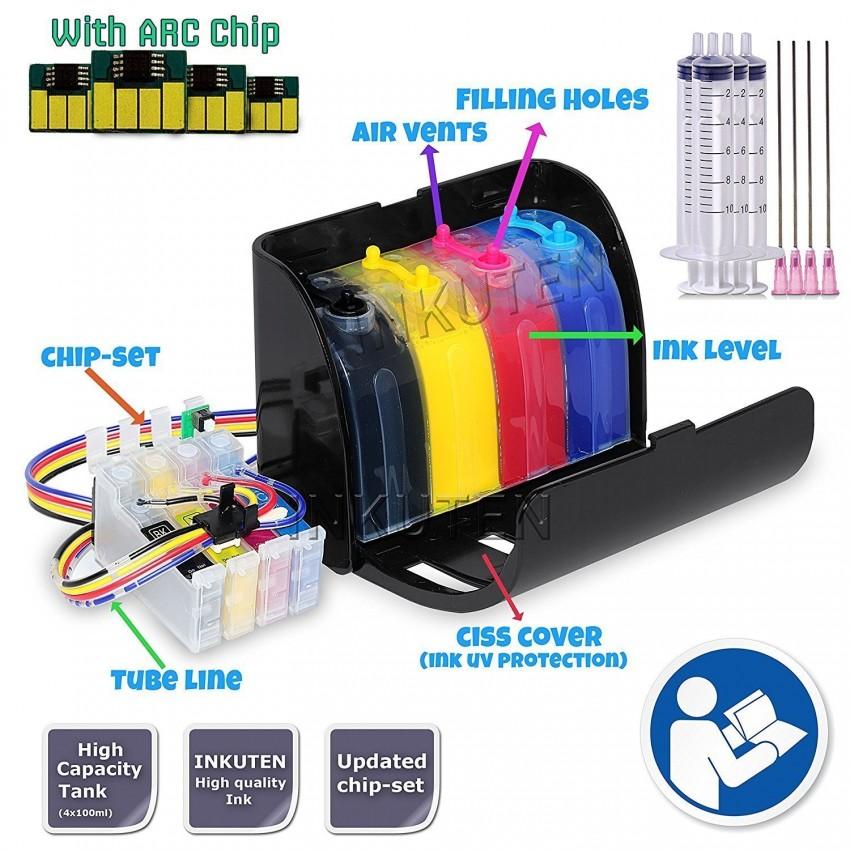 400ml Hi-Definition Sublimation ink CISS for 127 T127 Cartridge Epson  WorkForce WF-3540 WF-3520 WF-7010 WF-7510 WF-7520 WF 845 840 545 635 630  Printer