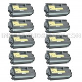 Compatible Brother TN560 Set of 10 Black Laser Toner Cartridges - 60000 Page Yield