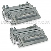 Compatible HP Set of 2 Black 64A / CC364A Laser Toner Cartridges - 20000 Page Yield