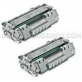 2 HP Compatible CE505A Toners - 4600 Page Yield
