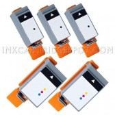 5 Pack: Canon BCI-15BK BCI-16CLR Compatible Ink Cartridges (3BK,2CLR)