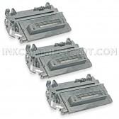 Compatible HP Set of 3 Black 64A / CC364A Laser Toner Cartridges - 30000 Page Yield