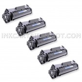 Compatible Canon 104 (FX9/FX10) Set of 5 Black Laser Toner Cartridges - 10000 Page Yield