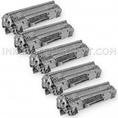 Compatible HP CE285A - (HP 85A) (Set of 5-Pack) Black Laser Toner Cartridge  - 8000 Page Yield