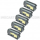 Compatible Brother TN560 Set of 5 Black Laser Toner Cartridges - 21000 Page Yield