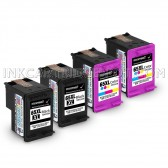 4 Pack Hp Deskjet 3758, 2 Black And 2 Tri-Color High Yield Ink Cartridges