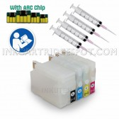 4 Refillable Cartridges for HP 932XL, HP 933XL, HP 932, HP 933 (Empty) with Auto Reset Chips (ARC)