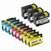 12 Pack Ink Cartridges Replacement for HP 932XL & 933XL - 3 Black CN053AN ink cartridge, 3 Cyan CN054AN, 3 Magenta CN055AN, 3 Yellow CN056ANM