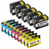 14 Pack Ink Cartridges Replacement for HP 932XL & 933XL - 5 Black CN053AN ink cartridge, 3 Cyan CN054AN, 3 Magenta CN055AN, 3 Yellow CN056ANM