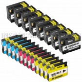 20 Pack Ink Cartridges Replacement for HP 932XL & 933XL - 8 Black CN053AN ink cartridge, 4 Cyan CN054AN, 4 Magenta CN055AN, 4 Yellow CN056ANM