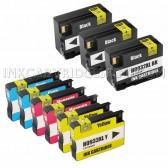 Replacement Set of 9 (HP 932XL and 933XL High Yield) Ink Cartridges - 3 Black + 2 Each Cyan, Magenta, Yellow