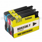 Ink Cartridges Replacement for HP 933XL - 1 Cyan CN054AN 1 Magenta CN055AN, 1 Yellow CN056AN