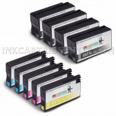 10 Pack Ink Cartridges Replacement for HP 952XL - 4 Black F6U19AN ink cartridge, 2 Cyan L0S61AN, 2 Magenta L0S64AN, 2 Yellow L0S67AN