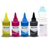 100 ml / 3.5 oz Edible Ink Bottles for Canon - 1-Black, 1-Cyan, 1-Magenta, 1-Yellow Color