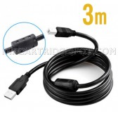 3 Meters USB Wire A to B Printer Cable High Speed Data Line For HP Lexmark Canon Epson Brother Dell Samsung and more