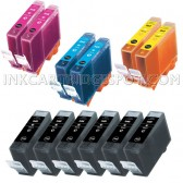 Canon Compatible BCI-3 Set of 15 Cartridges: 6 Black (BCI-3eBk), 3 Cyan (BCI-3eC), 3 Magenta (BCI-3eM), 3 Yellow (BCI-3eY)