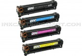 Replacement Set for Canon 118 Bk, 118 C, 118 Y, 118 M Toner Cartridges