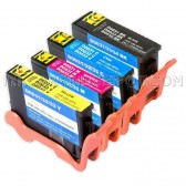 Compatible Set of 4 (Series 33/34) Extra High Yield Ink Cartridges for the Dell V525w & V725w Printers: 1 Black, 1 Cyan, 1 Magenta & 1 Yellow