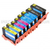 Compatible Set of 8 (Series 33/34) Extra High Yield Ink Cartridges for the Dell V525w & V725w Printers: 2 Black, 2 Cyan, 2 Magenta & 2 Yellow