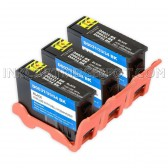 3 Pack Compatible 331-7377 / T9FKK (Series 33/34) Extra High Yield Black Ink Cartridge