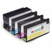 Replacement Set of 4 (HP 952XL High Yield) Ink Cartridges for Hewlett Packard - 1 Black + 1 Each Cyan, Magenta, Yellow