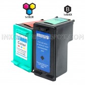Compatible HP C8767WN (HP 96) and C9363WN (HP 97) Set of 2 Ink Cartridges: Includes 1 Black and 1 Color Cartridge