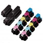 HP 02 Compatible Set of 13 Ink Cartridges: 3 Black + 2 Cyan, 2 Magenta, 2 Yellow, 2 Light Cyan, 2 Light Magenta