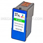 Replacement Lexmark 18C2180 (#37XL) High Yield Color Ink Cartridge Lexmark 37XL - 500 Page Yield