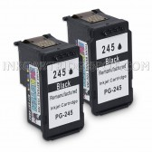 2 Pack Canon PG-245 (8279B001AA) Black Ink Cartridges