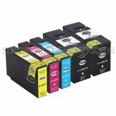 5 PK Canon PGI-1200XL Replacement Ink Cartridges (2 Black 9183B001, 1 Cyan 9196B001, 1 Magenta 9197B001, 1 Yellow 9198B001, 5-Pack)