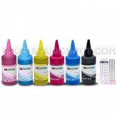 Ink refill set for continuous ink system CISS or refillable cartridges Epson Artisan 1430, Epson stylus photo 1400 Printers - Made in the USA