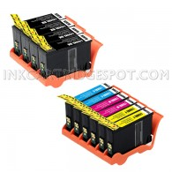 Lexmark Compatible 150XL Set of 10 High Yield Ink Cartridges: 4 Black & 2 each of Cyan, Magenta and Yellow